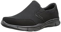 Skechers Sport Men\'s Equalizer Persistent Slip-On Sneaker, Black, 9 XW US