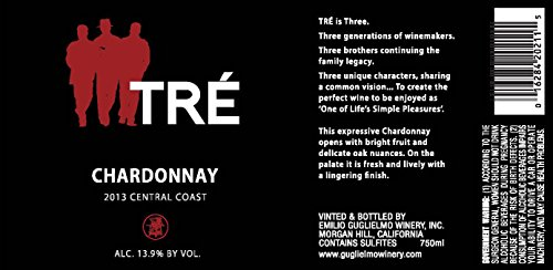 2013 Tre Central Coast Chardonnay 750 Ml