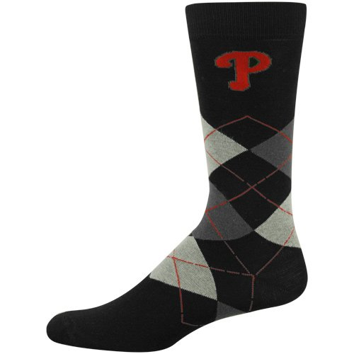 MLB Philadelphia Phillies Black Argyle Large Dress Socks at Amazon.com
