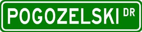 POGOZELSKI Street Sign ~ Personalized Family Lastname Sign ~ Gameroom, Basement, Garage Sign Novelty** ALUMINUM METAL - Buy POGOZELSKI Street Sign ~ Personalized Family Lastname Sign ~ Gameroom, Basement, Garage Sign Novelty** ALUMINUM METAL - Purchase POGOZELSKI Street Sign ~ Personalized Family Lastname Sign ~ Gameroom, Basement, Garage Sign Novelty** ALUMINUM METAL (The Lizton Sign Shop, Home & Garden,Categories,Patio Lawn & Garden,Outdoor Decor)