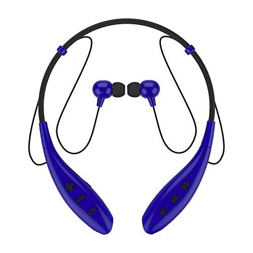 SoundPEATS(サウンドピーツ) bluetooth イヤホン 高音質 ハンズフリー スポーツ仕様 生活防水 イヤホン bluetooth ワイヤレス イヤホン ワイヤレスヘッドホン bluetooth ヘッドホン ヘッドセット イヤフォン ヘッドフォン Q800 (ブルー)