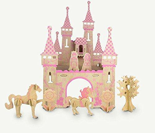 ULT-unite SEA-LAND 3-D Wooden Puzzle (Princess Castle) (Castle Model Wood compare prices)