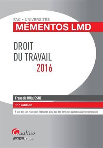 Mémentos LMD - Droit du travail 2016