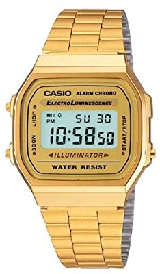 Casio Classic Digital Watch, Color: Gold, Size: One Size