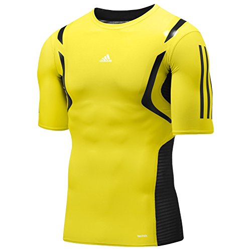 Adidas TECHFIT POWERWEB S/S TEE SHIRT Giallo Uomo T-shirt Formazione