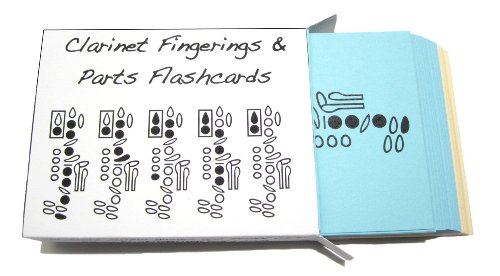 Clarinet Fingerings & Clarinet Parts Flashcard Set - 1