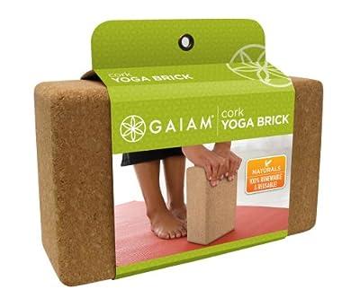 Gaiam Cork Yoga Brick from Gaiam