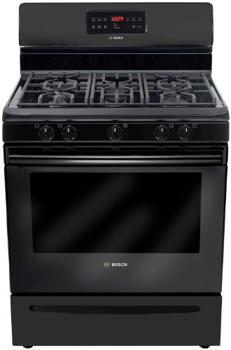 "Bosch Hgs3063Uc 300 30"" Black Gas Sealed Burner Range"