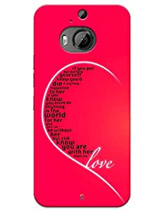 Love quote case for HTC Desire One M9+