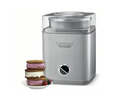 Home Kitchen 2 Qt.Homemade Frozen Yogurt, Sorbet & Ice Cream Machine Desserts