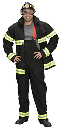 Adult Firefighter (Pants and Jacket Only) Adult Costume Black