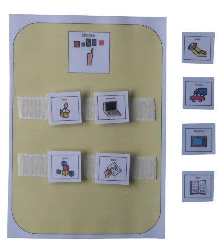Autism Supplies And Developments Picture Exchange Communication System Indoor Activity Choice Board