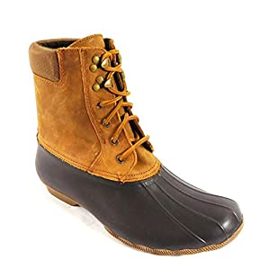 Sperry Top-Sider Women's Shearwater Rain Boot, Brown/Tan, 9.5 M US