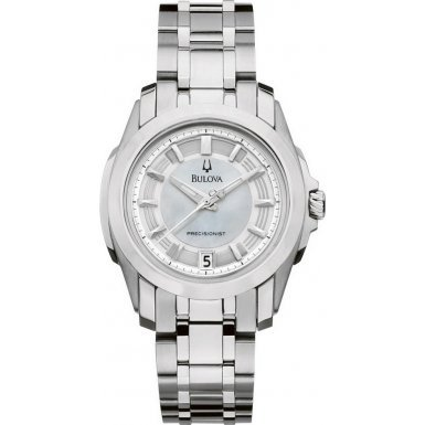 Bulova 96M108 Ladies Precisionist Longwood All Silver Watch