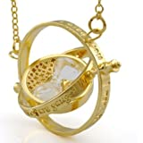 Harry Potter Time Turner Necklace Hermione Granger 24k Yellow Gold Plated HP 029 Ship by EMS