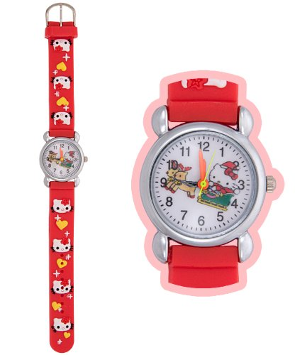 Pammyj Hello Kitty Xmas Watch Children Kids Gift