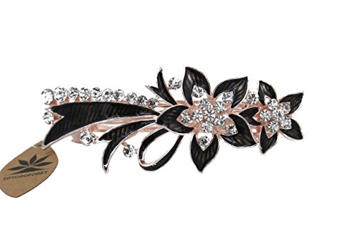 totoroforet-le-cuisson-vernis-rationaliser-lys-cheveux-clips-barrette-broches-strass-rhinestones-noi