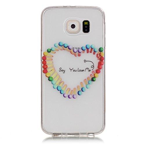 Cozy Hut Housse Etui pour Samsung Galaxy S6 Silicone TPU Souple Case Cas de Couveture Coque Protection Anti Rayure Anti Choc Résistante Fashion pour
