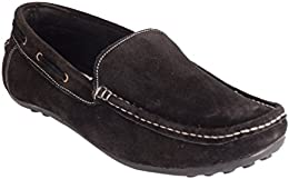 CAPLAND Mens Black Colour Synthetic Leather Casual Loafer