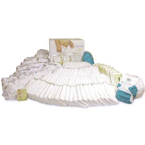 Real Nappies Cloth Diapers Birth To Potty Pack, Over 100 Items For Babies 6 lb to 40+ lb