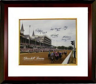 Jorge Velasquez Autographed/Hand Signed Kentucky Derby Winners Churchill Downs Horse Racing 16X20 Ph