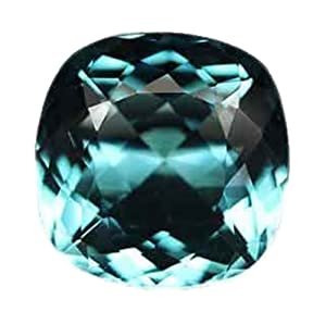 Aqua Blue Quartz Cushion Unset Loose Gemstone 18mm