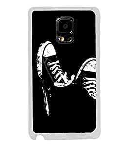 Black and White Shoes 2D Hard Polycarbonate Designer Back Case Cover for Samsung Galaxy Note Edge :: Samsung Galaxy Note Edge N915FY N915A N915T N915K/N915L/N915S N915G N915D