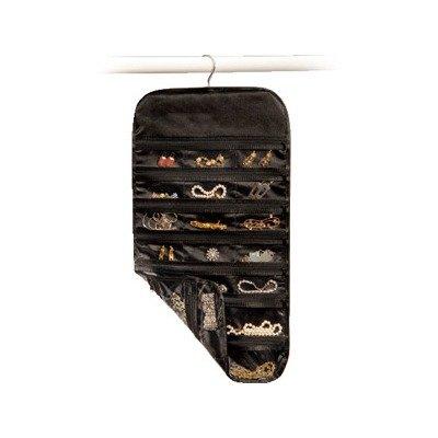 Richards Homewares Satin Thirty Seven Pocket Jewelry Organizer-Black