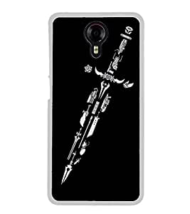 Sword 2D Hard Polycarbonate Designer Back Case Cover for Micromax Canvas Xpress 2 E313