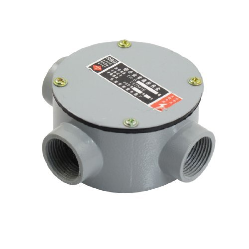 """Dimart G3/4"""" Threaded Four Hole Connecting Metal Round Water-Proof Junction Box W Pads"""