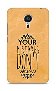 AMEZ your mistakes dont define you Back Cover For Meizu MX5