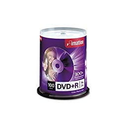imation - DVD+R Discs, 4.7GB, 16x, Spindle, Silver, 100/Pack 18060 (DMi PK