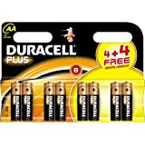 8 Duracell AA Plus