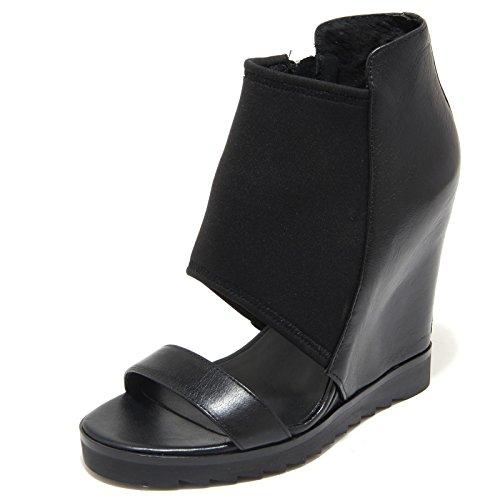 4047L sandali zeppe donna neri ASH lucky pelle tessuto scarpe tronchetti sandals kids [40]