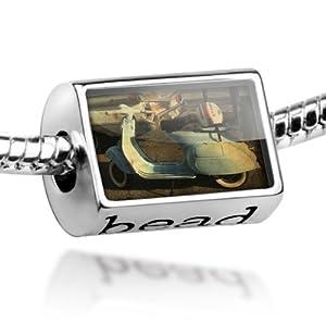 "Beads ""Vintage Vespa Scooter"" - Pandora Charm & Bracelet Compatible"