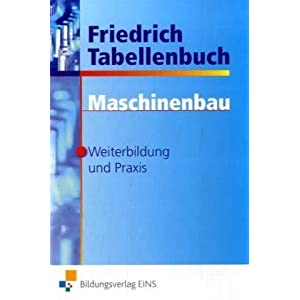 eBook Cover für  Friedrich Tabellenbuch Maschinenbau Weiterbildung und Praxis