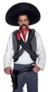 Smiffy's Men's Bandolier Bullet Belt, Black, One Size