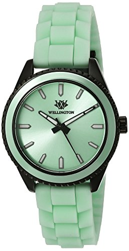 Wellington Karamea Women's Quartz Watch with Green Dial Analogue Display and Green Silicone Strap WN508-690A