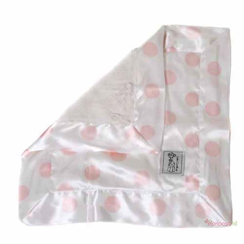 Little Giraffe Cream Dot Luxe Blanky - Pink - 1