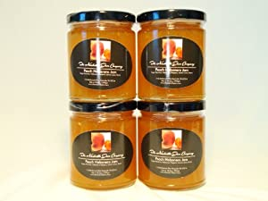 ALL NATURAL Spicy Peach Habanero Jam by The Nashville Jam Company, 10.5 oz (4 Pack)