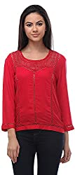 Senora Women's Regular Fit Top (Red)