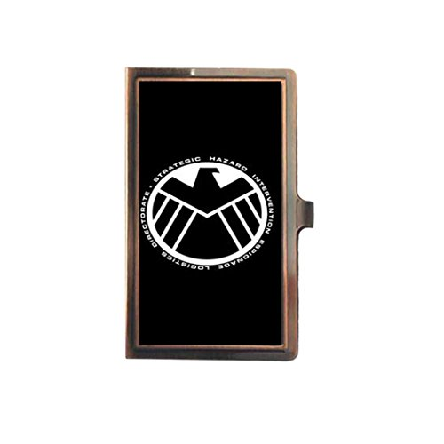 Marvel's Agents of S.H.I.E.L.D. SHIELD Custom Card Holder Portable Bronze Stainless Steel Metal Business Name Card Credit Card Holder Case Organizer (Marvel Agents Of Shield Wallet compare prices)