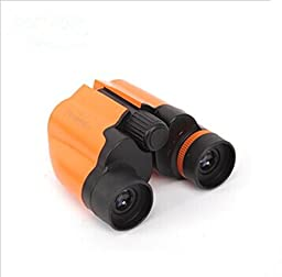 Genuine High-powered Telescope Hd Mini Birding Binoculars Non-infrared Telescope Concert for Children-green-orange