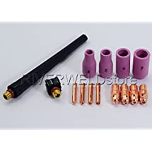 TIG KIT Alumina Nozzles, Collet Bodies For TIG Torch WP PDA DB SR 9 20 25,14pcs