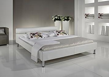 Polsterbett Bett 3321010000 100 x 200 cm Kunstleder weiß