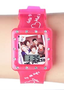 One Direction Pink Square LCD Watch