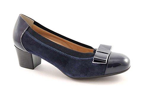 GRUNLAND TORO SC1710 blu scarpe donna decolletè fiocco elasticizzato 37
