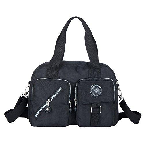 European And American Style Retro Fashion Women'S Shoulder Bag Handbag 7 Colors Size: 11.5 * 8.6 * 4.3 (In) (Black)