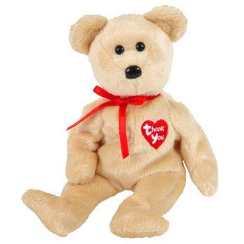 TY Beanie Baby - THANK YOU BEAR 2003 (Dealer Exclusive, 1 given per store)