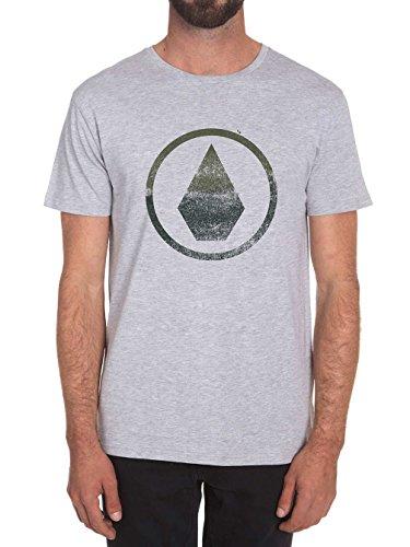 Volcom Canvas Stone Bsc Ss-Camicia a maniche corte, uomo, colore: grigio, taglia XS